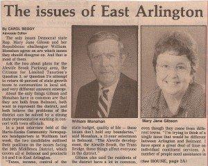 Nathan S. Gibson - MJG 1990 East Arlington Issues