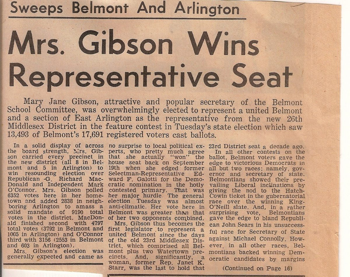 Nathan S. Gibson - MJG Gibson Wins Representative Seat